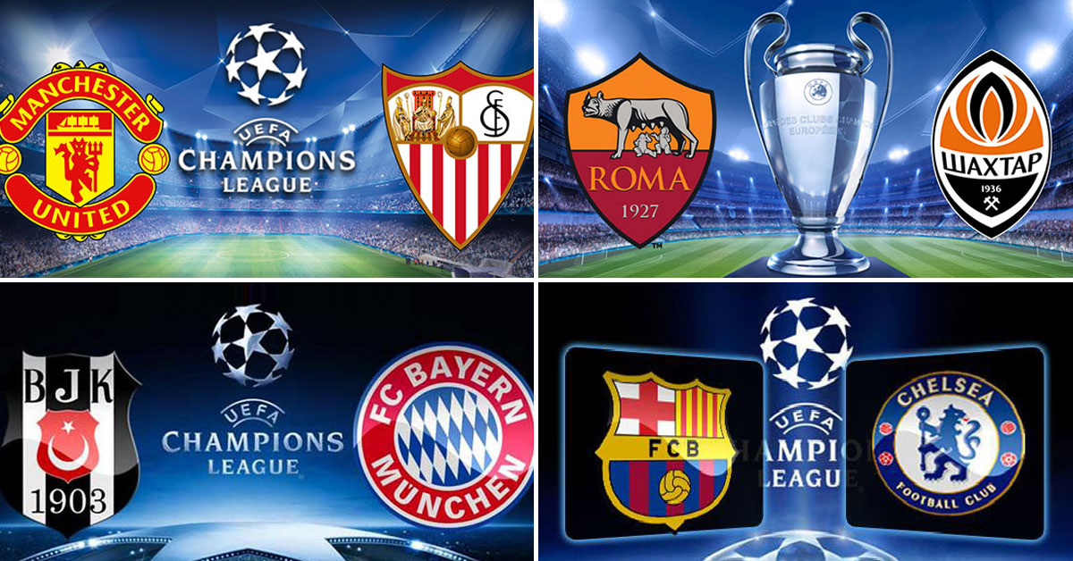 Champions League – Round of 16 – Second Legs 13-14 March 2018